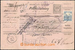65340 - 1918 intrastate post. credit note big with imprinted value 2
