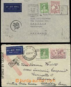 65358 - 1939 2ks leteckých dopisů adresovaných 1x do Sudet se SR