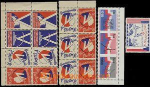 65360 - 1940-68 sestava 16ks nálepek vydaných v zahraničí po okupaci