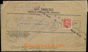 65362 - 1937 novinový rukáv zaslaný plechovkovou poštou v cínov