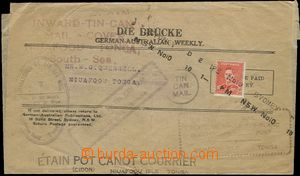 65362 - 1937 newspaper wrapper sent tin can post in/at cínovém box