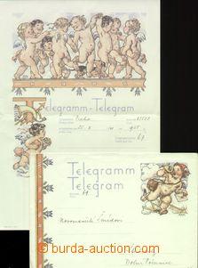 65363 - 1941 comp. 4 pcs of printed-matters congratulatory telegrams
