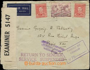 65365 - 1942 TRANSPORT SUSPENDED  air-mail letter sent from Australi