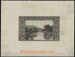65366 - 1906 PLATE PROOF in black color stamp. Landscape 35h, Mi.38