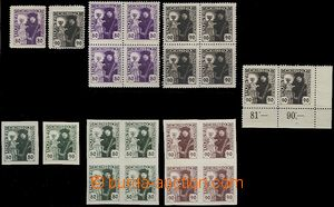 65376 -  Pof.162-163, selection of basic stamp. as blk-of-4, 10 pcs