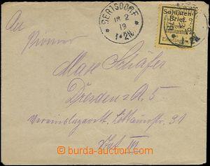 65397 - 1919 dopis prošlý FP, známka SOLDATEN BRIEF, 2x DR Bertsd