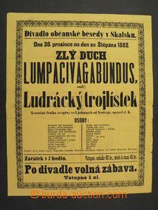 65413 - 1882 divadelní plakát Divadla občanské besedy ve Skalsku, fo