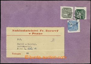65419 - 1945 FORERUNNER  usage Bohemian and Moravian newspaper stmp