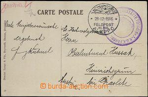 65453 - 1916 SÝRIE  pohlednice s kruhovým razítkem FELDPOST MIL.M