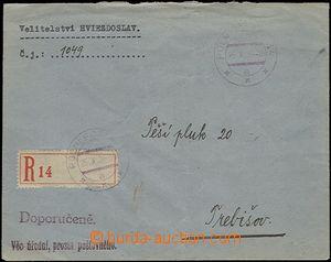 65468 - 1938 R-dopis zaslaný do Trebišoca, DR PP 34 25.X.38, vzadu
