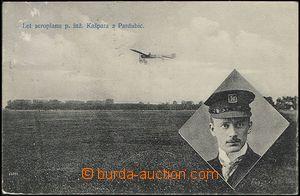 65469 - 1910 vzlet aeroplánu, Kašpar, Pardubice, portrét; prošl�