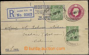65471 - 1925 postal stationery cover King George V. 4½P , sent