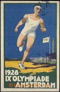 65472 - 1928 OLYMPIC GAMES, postcard IX. Summer olympic games in/at