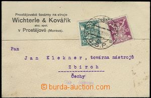 65485 - 1920 card with additional-printing firm Wichterle & Kovaří