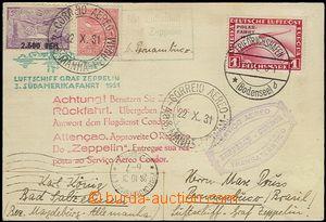 65488 - 1931 DEUTSCHLAND (GERMANY)  3. Südamerikafahrt (Flight to S