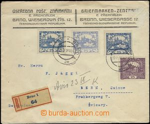 65491 - 1919 commercial Reg letter to Switzerland i.a. franked by st