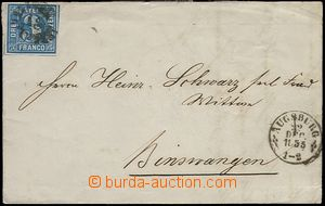 65492 - 1855 letter with Mi.2, cancelled by numbered cancel, postmar