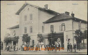 65504 - 1913 Radotín  nádraží, jednozáběrový, čb., prošlé, zachovalé