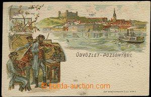 65505 - 1899 Bratislava, Dunaje, koláží cimbálové kapely, barev
