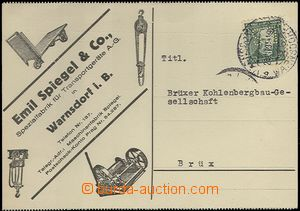 65511 - 1931 identification entire franked with. stmp with perfin ca