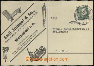 65511 - 1931 identifikační celistvost vyfr. známkou s perfinem ka