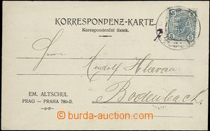 65514 - 1906 identification entire franked with. stmp with perfin ca