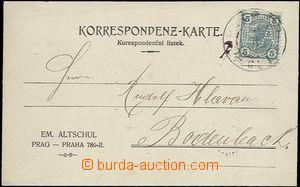 65514 - 1906 identifikační celistvost vyfr. známkou s perfinem ka