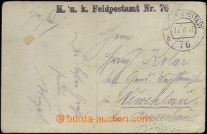 65515 - 1917 K.u.K. FP č.76, řádkové razítko, kulaté DR FPA č