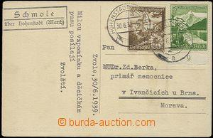 65520 - 1939 Schmole über Hohenstadt (Zvole by/on/at Zábřeha, dis