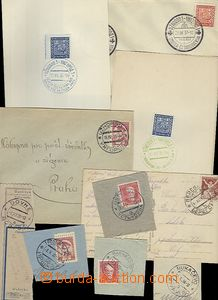 65521 - 1921-37 comp. 3 pcs of entires and 8 pcs of cut-squares and