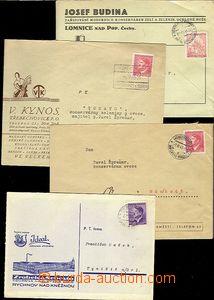 65522 - 1942-44 sestava 4ks firemních dopisů s přítiskem, Josef