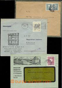 65523 - 1947-48 sestava 3ks firemních dopisů s přítiskem, Mars P