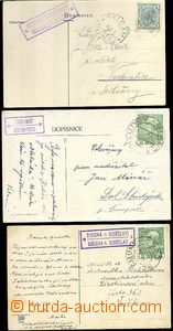 65529 - 1906-13 sestava 3ks pohlednic s poštovnami NECHVALICE (SEDL