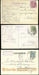 65531 - 1903-12 sestava 3ks celistvostí s poštovnami KRUŠOVICE, �