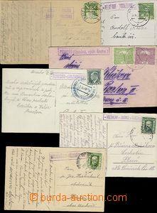 65540 - 1920-36 sestava 6ks celistvostí s razítky poštoven DOLNÍ