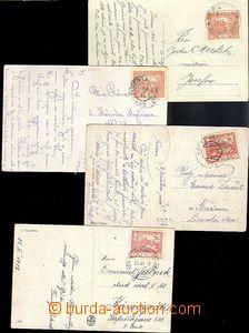 65565 - 1919-20 sestava 4ks pohlednic vyfr. zn. Hradčany s raz. VLP