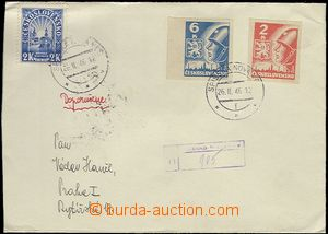 65578 - 1946 R-dopis vyfr. zn. Pof.354, 356, 404, DR Spišská Nová