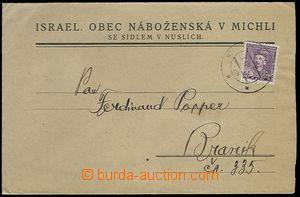 65587 - 1934 JUDAICA  letter with Pof.272, CDS Prague 26.II.34, priv