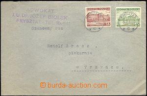 65597 - 1939 firemní dopis z obsazeného Fryštátu, vyfr. zn. Mi.3