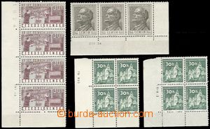 65598 - 1953-63 comp. 4 pcs of blocks with margin and dates of print