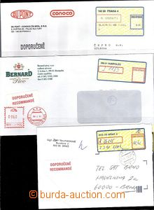 65600 - 1994-98 comp. 3 pcs of Reg letters with label APOST, 1x with