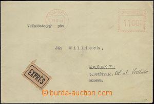 65819 - 1953 Ex dopis vyplacený OVS Žilina 1/ 9.6.53 s nastavenou ho