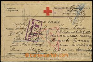 65936 - 1915 dvojitá dopisnice Červeného kříže pro válečné