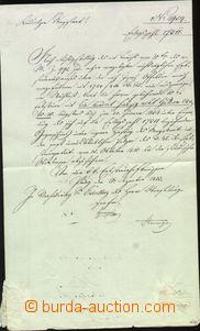 65967 - 1833 folded letter, straight line postmark Prag, postmaster