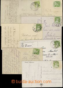65983 - 1922-25 sestava 16ks pohlednic + 1 lístek PP, všechny vyfr