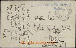 66057 - 1917 K.u.K.. Stabiles-Pferdespital Motol, postcard with phot