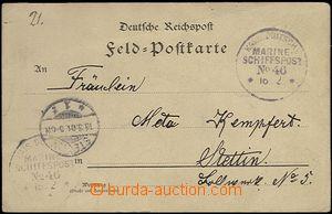66120 - 1901 CHINA  FP card, postmark Marine-Schiffspost (naval ship