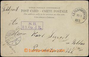 66121 - 1901 CHINA  postcard Beijing sent by FP, postmark K.D. Feld-