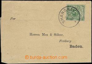 66122 - 1896 preprinted newspaper wrapper with Mi.V46, single circle