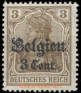 66183 - 1914 BELGIUM - country post, Mi.11a, Abstandstype II Zw1.0,